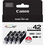 Canon® CLI-42 4 Color Value Pack, Multi-pack (4 cart per pack)