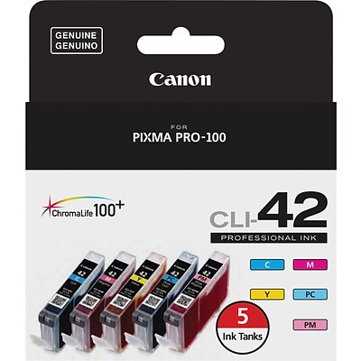 Canon® CLI-42 5 Color Value Pack, Multi-pack (5 cart per pack)
