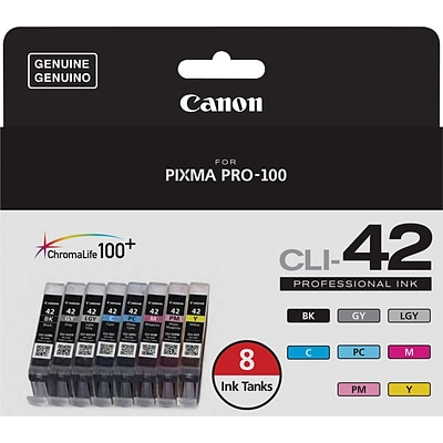 Canon® CLI-42 8 Color Value Pack, Multi-pack (8 cart per pack)