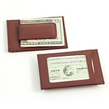 Bey-Berk BB516 Leather Magnetic Money Clip and Wallet With ID Window, Brown