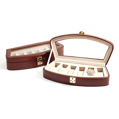 Bey-Berk BB520 Leather 6 Watch Case, Brown