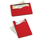 Bey-Berk BB912 Leather Slim Wallet With Multi Slots, Red