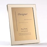 Bey-Berk BF100-11 Brass Picture Frame With Easel Back, 5 x 7