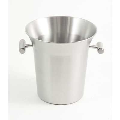 Bey-Berk BS924 Stainless Steel Ice Bucket/Cooler With Brushed Finish and Side Handles