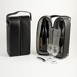 Bey-Berk BS928 Leather Wine Caddy, Black