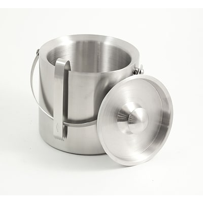 Bey-Berk BS958 Stainless Steel Double Wall Ice Bucket With Ice Tong