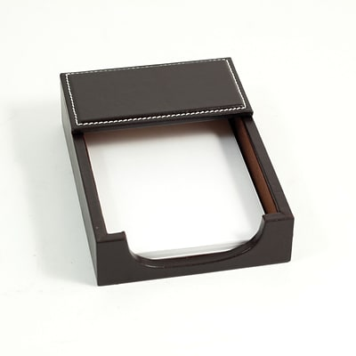 Bey-Berk D1212 Leather Memo Holder, 4(L) x 6(W), Coco Brown