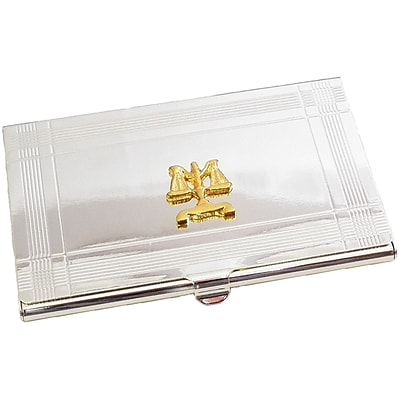 Bey-Berk D156 Legal Business Card Case, Silver Plated