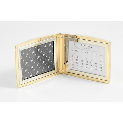 Bey-Berk D299 Perpetual Calendar With 2(H) x 3(W) Frame, Gold Plated