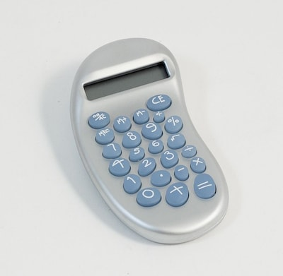 Bey Berk D382 Ergonomic Calculator With Satinized Pearl Finish