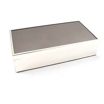 Bey-Berk D515 Box With removable Lid and Velvet Lined, Silver Plated