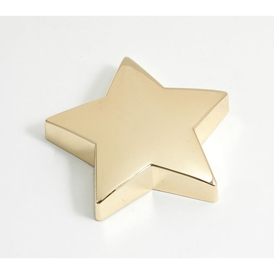 Bey-Berk Gold Plated Paperweight, Star (D556)