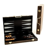 Bey-Berk G547 Backgammon Set With Birch Wood Exterior and Black and White Interior Inlay