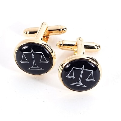 Bey-Berk J174 Gold Plated Cufflinks, Scales