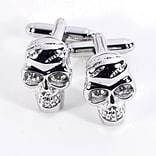 Bey-Berk J180 Rhodium Plated Cufflinks, Scull