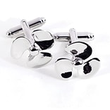Bey-Berk J183 Rhodium Plated Cufflinks, Propeller