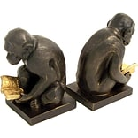 Bey-Berk R19Y Monkey Bookends, Brass, Bronzed