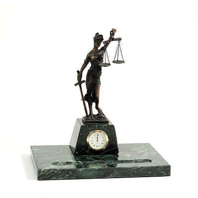 Bey-Berk R21L Legal Pen Holder With Bronze Clock