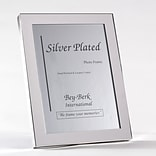 Bey-Berk SF100-12 Silver Plated Picture Frame, 8 x 10