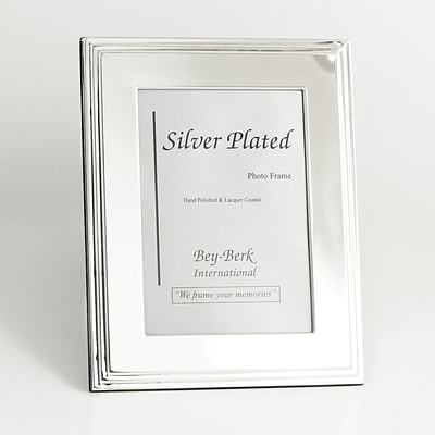 Bey-Berk SF107-09 Silver Plated Picture Frame, 4 x 6
