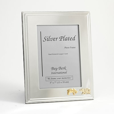 Bey-Berk SF107-11 Silver Plated Picture Frame, 5 x 7, Stock Market