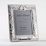 Bey-Berk SF180-11 Silver Plated Picture Frame, 5 x 7