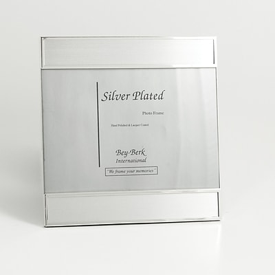Bey-Berk SF186-11 Silver Plated Picture Frame, 5 x 7
