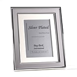 Bey-Berk SF198-11 Silver Plated With Matting Picture Frame, 5 x 7