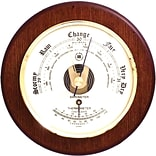 Bey-Berk WS070 Brass and Cherry Wood Barometer/Thermometer