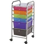 Blue Hills Studio Storage Cart W/6 Drawers, Multi, Color