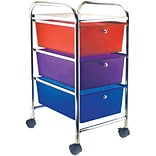 Advantus® Cropper Hopper Home Center Rolling Cart, 3 Drawer, Multi