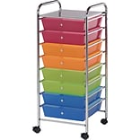 Blue Hills Studio Storage Cart U8 Drawers, Multi, 16.5 x 39.5 x 14.5