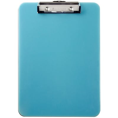 Saunders® Seaglass Translucent Clipboards, Teal
