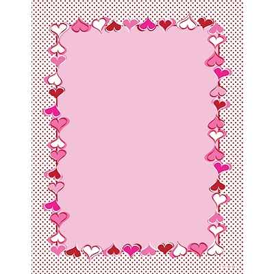 Great Papers® Heart Dots Letterhead, 80/Pack
