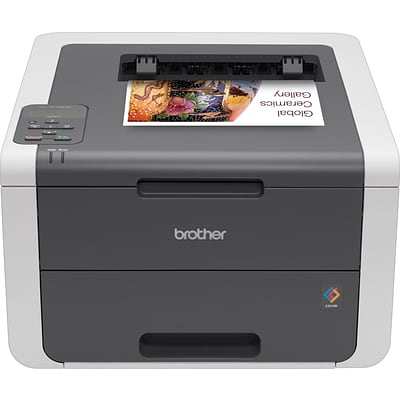 Brother HL3140CW Wireless Single-Function Digital Color Printer with Mobile Device Printing