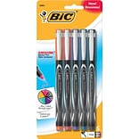 BIC Intensity Permanent Pens, Fine Point (0.5mm), Assorted Fashion, 5/Pk (FPINAP51AST)