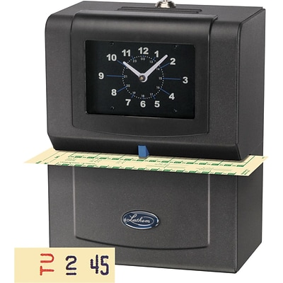 Lathem® 4021 Automatic Time Clock (Day of Week, 1-12 Hours, Minutes Format)