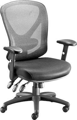Quill Brand® Carder™ Task Chair, Mesh with Fabric Seat, Black