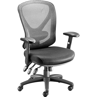 Quill Brand® Carder Mesh Back Fabric Computer and Desk Chair, Black (24115-CC)