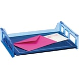 Blue Glacier Side-Load Stackable Letter Tray