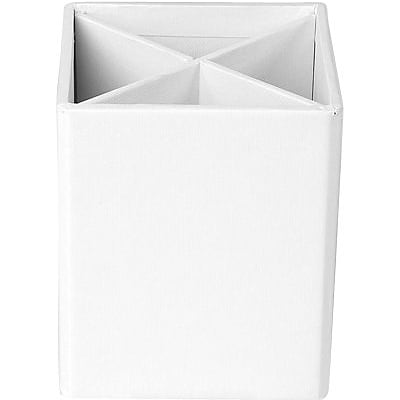 Bigso Pencil Cup with Dividers White