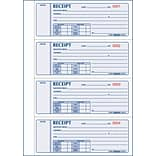 Money Receipt Forms, Carbonless, 3 Part, Hard Cover, 2-3/4 x 7, 200 Sets/Book