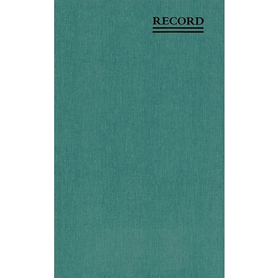 Book W/Margin,Record-Ruled,150 Pages,7-1/4x12-1/4,Green