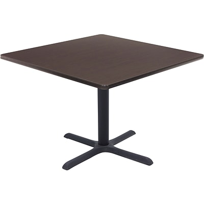 Regency® 36 Square Hospitality Table, Mocha Walnut