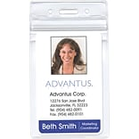 Advantus Re-sealable Badge Vertical Holder, 2 5/8 x 3 3/4 Insert Size, 50/Pk