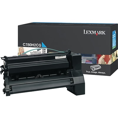 Lexmark™ Cyan Toner Cartridge, C780H2CG, High Yield