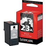 Lexmark™ 23A Black Ink Cartridge; 18C1623, Standard