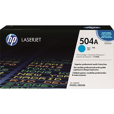 HP 504A Cyan Toner Cartridge (CE251A)