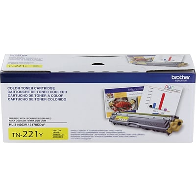Brother TN Yellow Toner Cartridge, Standard (TN-221Y)