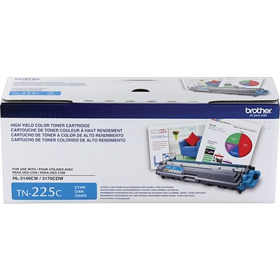 Brother Genuine TN225C Cyan High Yield Original Laser Toner Cartridge